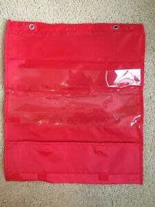 Small 17'' x 14'' Learning Resources Double Sided Pocket Chart-Red