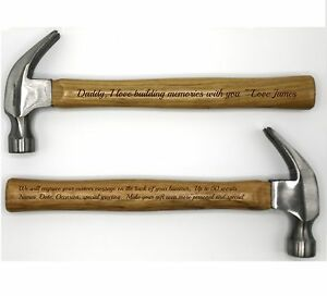 Personalized Hammer ~ Laser Engraved Hammer w/ Your Personal Words ~ Daddy