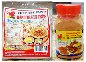 Shrimp and Chilli Mix Salt (Muoi Tom Banh Trang Tron) and Strip Rice Paper