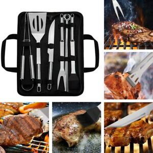 BBQ Grilling Tools Utensils Stainless Steel Camping Outdoor Cooking Tools