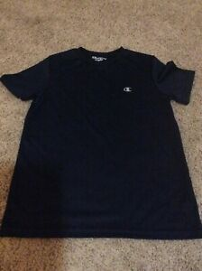Champion Powertrain Dry Fit Shirt Navy Blue Youth Large $7.95