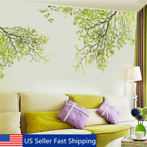 Large Removable Vinyl Green Tree Branch Wall Stickers Decal Art Mural Home