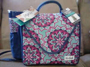 🎒Fit & Fresh 🎒Bloomington Womens Insulated Lunch Tote Bag Teal/Pink/Green