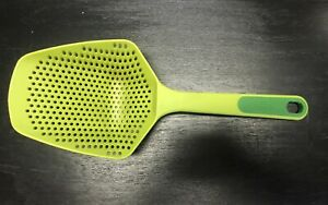 Joseph Joseph 10066 Scoop Colander Strainer Slotted Spoon, Large, Green
