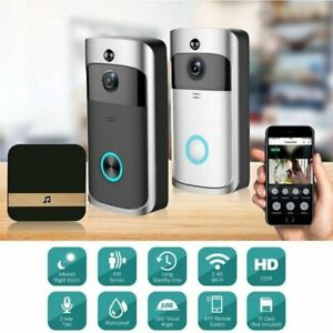 Wireless Smart WiFi Video Doorbell Phone Door Ring Intercom Security Camera Bell