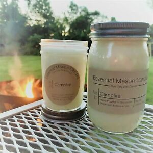 Scented Soy Wax Candle Hand Poured amp; Highly Scented Campfire $15.00
