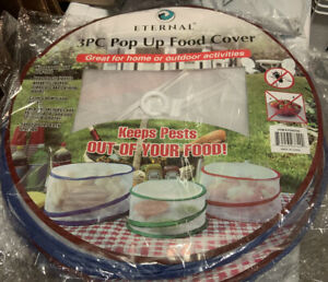 Pop Up Food Cover Protectors Collapsible Mesh Screen Food Cover 3 Pieces Set