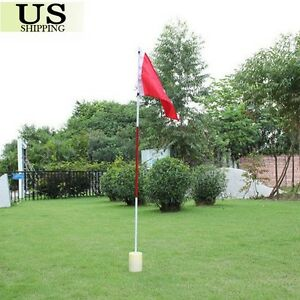 Portable Practice Golf Hole Putting Green Flags w Cup Backyard Golf Flagstick $16.85