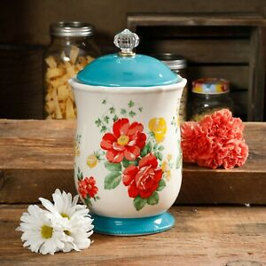 The Pioneer Woman Vintage Floral 10.3-Inch Canister *FREE SHIPPING*