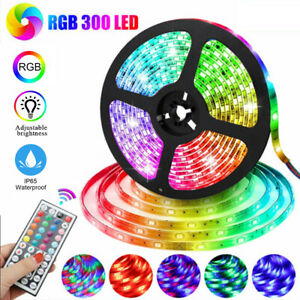 Waterproof Flexible Strip Light RGB LED SMD Remote Fairy Lights Room Party Bar #