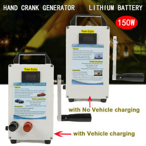 Portable Hand Crank Generator Emergency Power Supply Charger Camping Outdoor new
