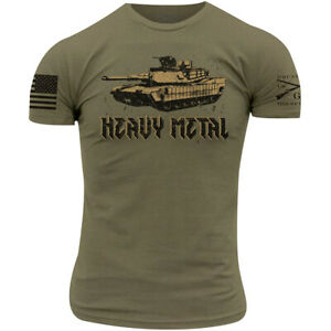 Grunt Style Heavy Metal T Shirt Military Green $21.95