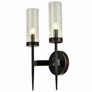 Wall Lamp Bathroom Vanity Light Fixture Frosted Glass Shade Farmhouse, Bronze
