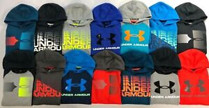 Boys Youth Under Armour Cotton Pullover Hoodie $25.99