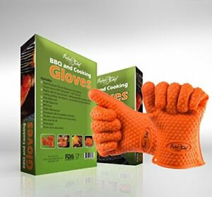 Perfect Chef BBQ and Cooking Silicone Gloves, Heat Resistant Grilling, Baking, F