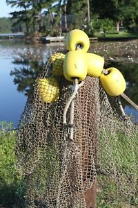 Used Commercial Fishing Net Rope Floats Decor 2 assemblies