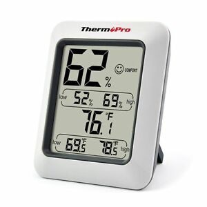 Humidity Monitor Weather Indoor Home Reader Temperature Digital Display NEW