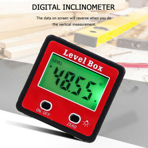 Digital LCD Angle Finder Magnetic Inclinometer Gauge Meter Protractor Level Box $14.48
