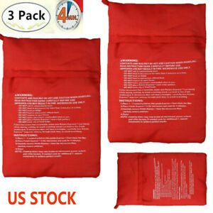 3&1Pcs New Potato Express Microwave Cooker Bags 4 Minutes Fast Reusable Washable