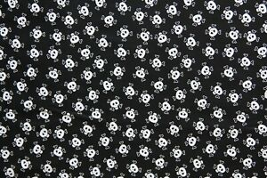 Timeless Treasures KIDZ C6226 BLACK fabric kids pirate skulls 1yd