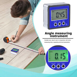 Mini Magnetic Digital Protractor Angle Finder Level Box Inclinometer Meter R8Q4 $14.49
