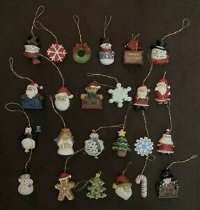 Lot of 24 Vintage Christmas Tree Ornaments Painted Holiday