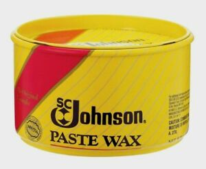 New SC Johnson Paste Wax 16oz . Wood Metal Cork Vinyl Satin Luster 00203
