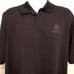 Under Armour Mens Striped Moon Valley Country Club Golf Polo Shirt Sz XL $20.89