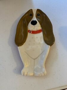 The PIONEER WOMAN Charlie the Basset Hound SPOON REST Ceramic Kitchen Dog New
