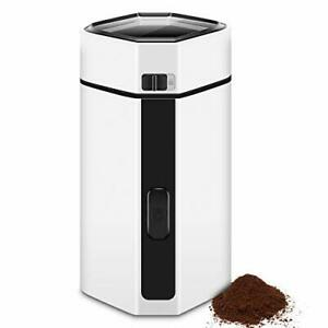 Electric Coffee Bean Grinder, Spice Nut With Stainless Steel Blade For Grounds,