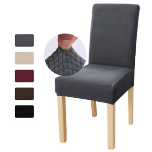 Stretch Dining Chair Cover Soft Fleece Slipcover Removable Seat Chair Protector $5.99