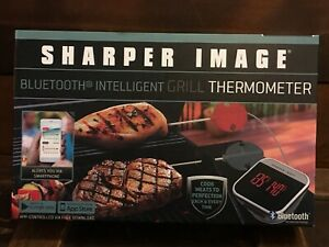 Sharper Image Bluetooth Smartphone Grill Thermometer-IOS/Android Capability New