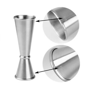 30ml 60ml Cocktail Jigger Stainless Steel Measuring Cup Bartender tools