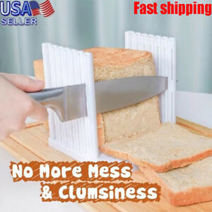 Bread Slicer Cutting Guide Loaf Slicing Cutter Toast Mold Kitchen Maker Tool