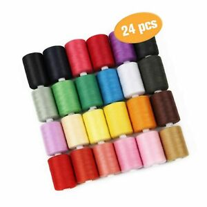 HAITRAL Sewing Thread Sets 24 Color Spools Thread Mixed Cotton 1000 Yards ... $34.99