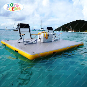 Newly designed inflatable dock floating bed water floating platform