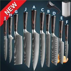 Kitchen Knife Professional Japanese Damascus Style Stainless Steel Chef's Knives