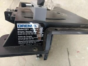 USED Dremel Rotary Tool Shaper/Router Table to Sand, Edge, Groove, and Slot Wood