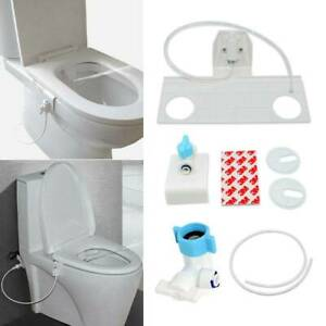 Non-Electric Bidet Toilet Fresh Water Spray Clean Seat Bathroom Sanitation Kit