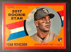 2017 Topps Archives 1960 Stars Soft Red 25 Yoan Moncada #RS 1 SSP White Sox