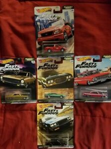 2020 Premium Hot Wheels Fast & Furious Motor City Muscle Complete Set of 5