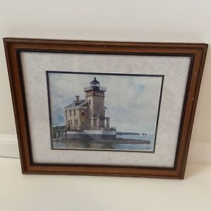 WATERCOLOR PAINTING TITLED quot;Kingston Lighthousequot; SIGNED MICHAEL DAVIDOFF #5 #25 $87.50
