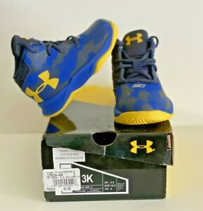 Toddler Little Boys Under Armour SC Basketball Stephen Curry Shoes Size 3K $25.00