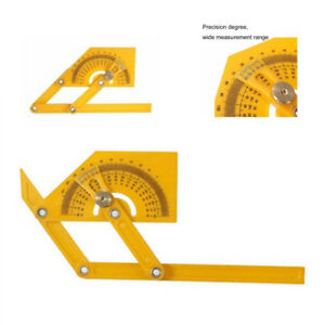 0 180° Portable Angle Finder Plastic Protractor Goniometer Miter Gauge $2.00