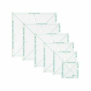 The Complete Fussy Ruler Set 6 pack square rulers Quilt in a Day $34.95