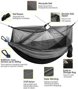 Best Camping Hammock with Mosquito Bug Net Single Person Backpacking Camping Fun