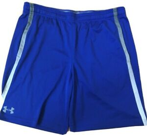 Men's Under Armour Shorts XL Blue Loose Heatgear Basketball Athletic Super ! $9.99