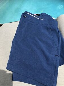 NWT Under Armour women's heatgear 4 fitted Golf Shorts Navy Fits 8 10 pockets $14.99