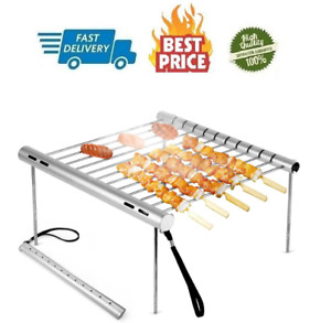 Portable Barbeque Grill Camping Folding Compact Stainless Steel Collapsible