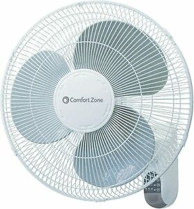 """Comfort Zone CZ16WR 16"""" Quiet 3-Speed Wall Mount Fan with Remote Control"""